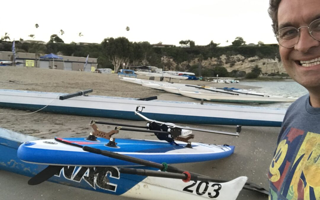 Rowing anywhere! Row your Stand Up Paddle Board.